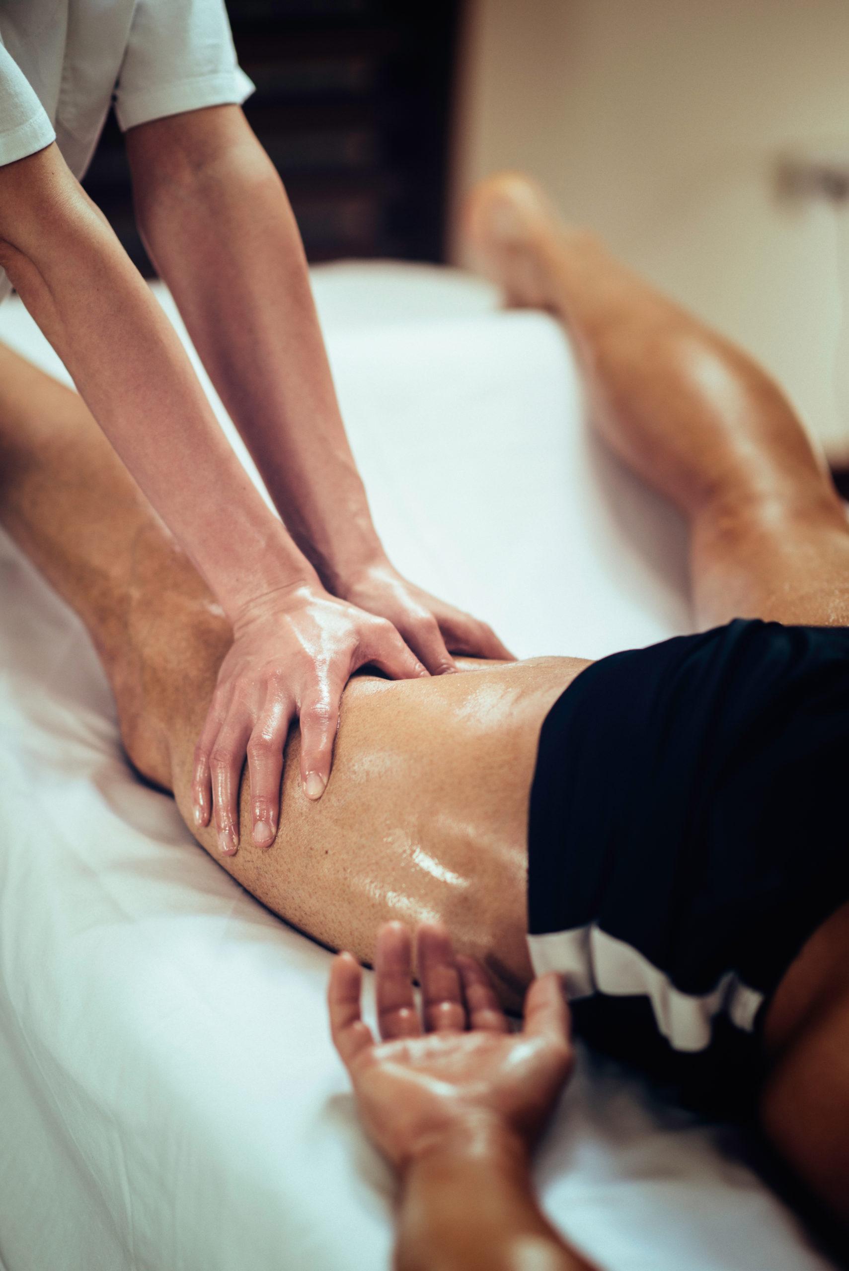 Massage sportif cuisse